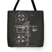 1920 Motion Picture Machine Patent Gray Tote Bag