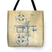 1920 Motion Picture Machine Patent Vintage Tote Bag