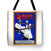 1920 Swan Fountain Pens Tote Bag