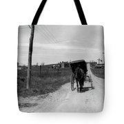 1920s 1930s Amish Man Driving Buggy Tote Bag
