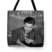 1920s 1930s Boy At Desk In Classroom Tote Bag