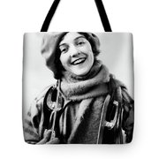 1920s 1930s Smiling Woman Dressed Tote Bag