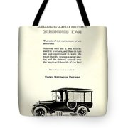 1921 - Dodge Brothers Business Car Truck Advertisement Tote Bag