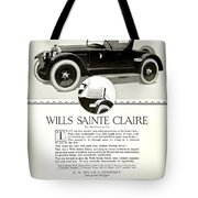 1921 - Wills Sainte Claire Automobile Roadster Advertisement Tote Bag