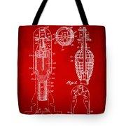 1921 Explosive Missle Patent Minimal Red Tote Bag