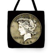 1922 Circulated Peace Dollar Tote Bag