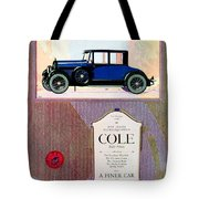 1922 - Cole 890 - Advertisement - Color Tote Bag