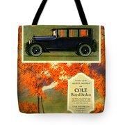 1923 - Cole Royal Sedan - Advertisement - Color Tote Bag