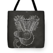 1923 Harley Engine Patent Art - Gray Tote Bag