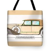 1923 Hispano Suiza Club Sedan By R.h.dietrich Tote Bag