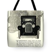 1924 - Buick Six Advertisement Tote Bag