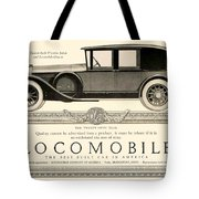 1924 - Locomobile Victoria Sedan Automobile Advertisement Tote Bag