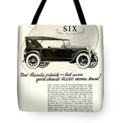1924 - Oldsmobile Six Automobile Advertisement Tote Bag