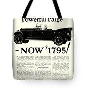 1924 - Paige Automobile Advertisement Tote Bag