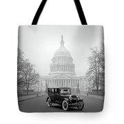 1924 Ford Lincoln At U. S. Capitol Tote Bag