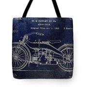 1924 Harley Davidson Motorcycle Patent  Tote Bag