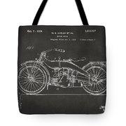 1924 Harley Motorcycle Patent Artwork - Gray Tote Bag