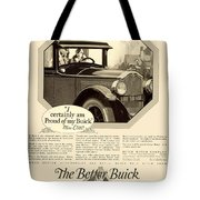 1925 - Buick Automobile Advertisement Tote Bag