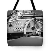 1925 Aston Martin 16 Valve Twin Cam Grand Prix Steering Wheel -0790bw Tote Bag