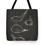 1926 Golf Club Patent Artwork - Gray Tote Bag by Nikki Marie Smith
