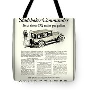 1927 - Studebaker Commander Automobile Advertisement Tote Bag