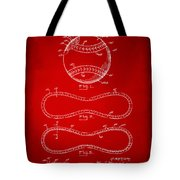 1928 Baseball Patent Artwork Red Tote Bag