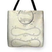 1928 Baseball Patent Drawing  Tote Bag