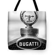 1928 Bugatti Type 44 Cabriolet Hood Ornament - Emblem Tote Bag