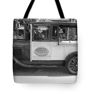 1928 Chevy Half Ton Pick Up In Black And White Tote Bag