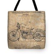 1928 Harley Davidson Motorcyle Patent Illustration Tote Bag