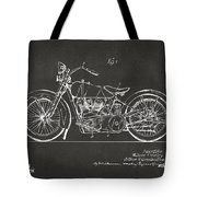 1928 Harley Motorcycle Patent Artwork - Gray Tote Bag by Nikki Marie Smith