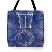 1928 Milk Pail Patent Drawing Blue Tote Bag