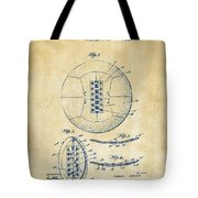 1928 Soccer Ball Lacing Patent Artwork - Vintage Tote Bag