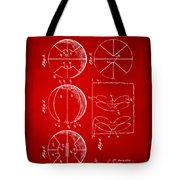 1929 Basketball Patent Artwork - Red Tote Bag
