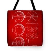 1929 Basketball Patent Artwork - Red Tote Bag