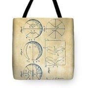 1929 Basketball Patent Artwork - Vintage Tote Bag