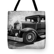 1929 Buick Black And White Tote Bag