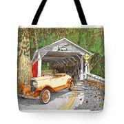 1929 Chrysler 65 Covered Bridge Tote Bag