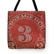 1930 Three Cents Postage Due Stamp Tote Bag