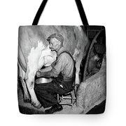 1930s 1940s Elderly Farmer In Overalls Tote Bag