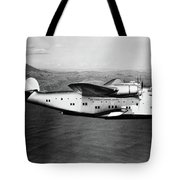 1930s 1940s Pan American Clipper Flying Tote Bag by Vintage Images