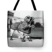 1930s Cocker Spaniel Wearing Glasses Tote Bag