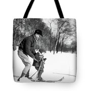 1930s Father & Son Man Wearing Jacket Tote Bag
