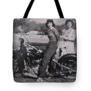 1930's Indian Motorcycle Mama Tote Bag