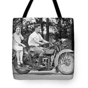 1930s Motorcycle Touring Tote Bag by Daniel Hagerman