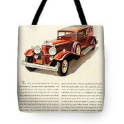 1931 - Packard - Advertisement - Color Tote Bag