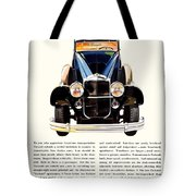 1931 - Packard Automobile Advertisement - Color Tote Bag