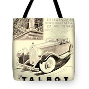 1931 - Talbot French Automobile Advertisement Tote Bag