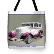 1931 Ford 2 Door Sedan Street-rod Tote Bag