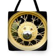 Antique Car Tire Rim Tote Bag